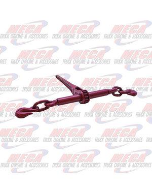 REAR CHAIN LOAD RATCHET BINDER 3/8 - 1/2 GRADE 70 RED