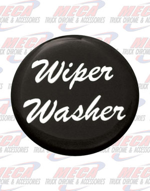 INSIDE WIPER WASHER KNOB STICKER BLACK GLOSSY