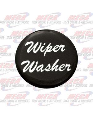 INSIDE WIPER WASHER KNOB STICKER BLACK GLOSSY