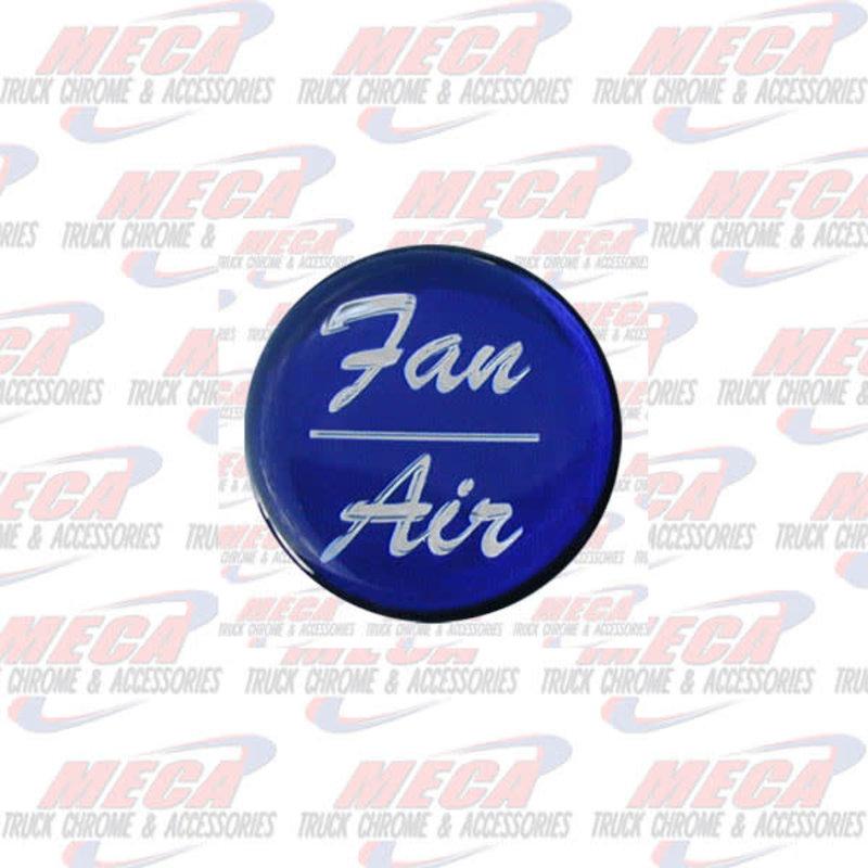 AIR/FAN KNOB STICKER BLUE GLOSSY