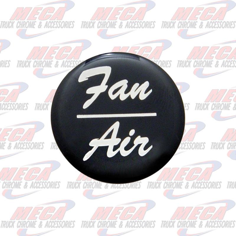 AIR/FAN KNOB STICKER BLACK GLOSSY