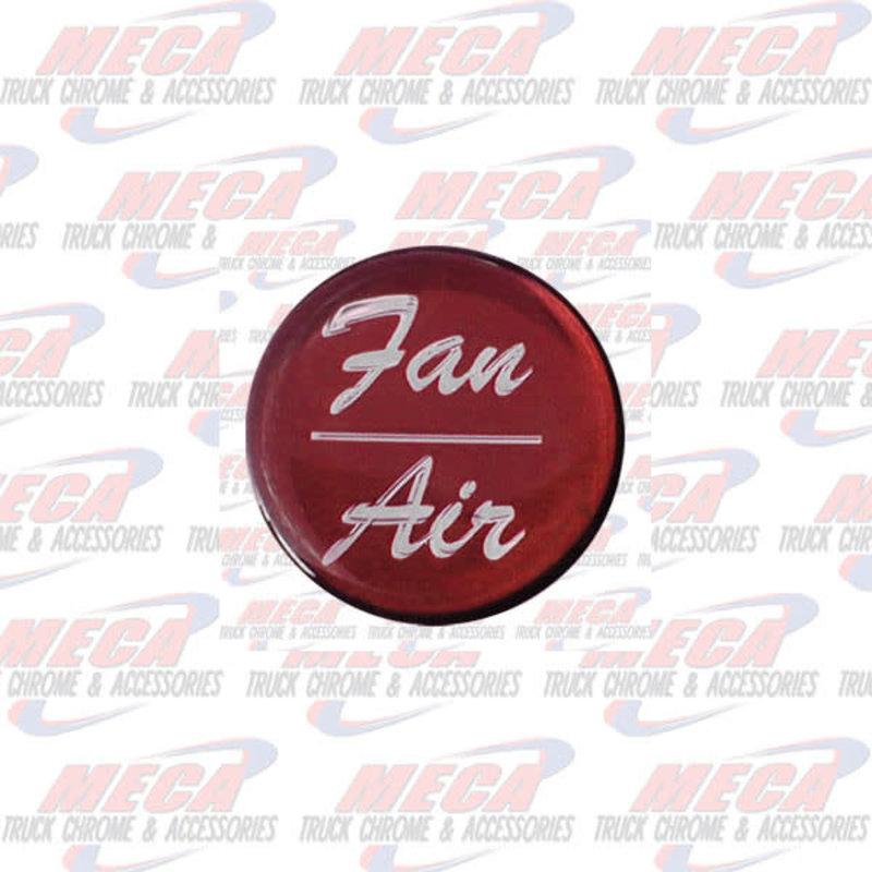 AIR/FAN KNOB STICKER RED GLOSSY