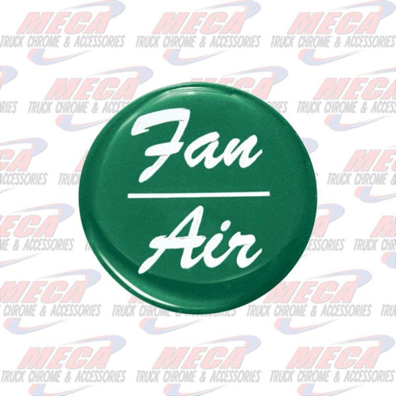 AIR/FAN KNOB STICKER GREEN GLOSSY