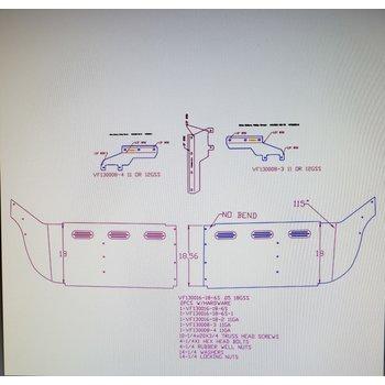 "VISOR FL CENTURY 18"" MIDROOF W/6 STRAIGHT BB LIGTHS (3 SIDE BOLTS)"