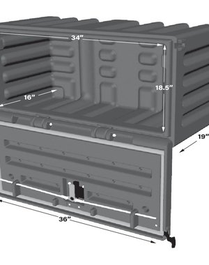 """SIDE TOOLBOX 36"""" YELLOW POLY MINIMIZER"""