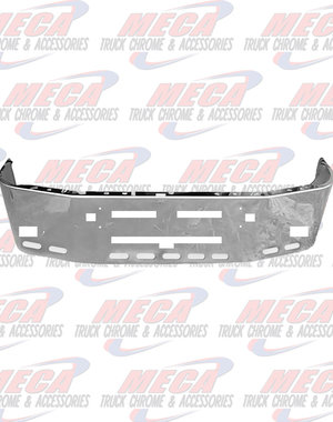 FRONT BUMPER KW T600 20'' S/S TOW, FOG, VENT, 9 OVAL HL