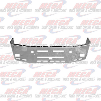 VALLEY CHROME BUMPER KW T600 20'' S/S TOW, FOG, VENT, 9 OVAL HL