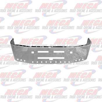 VALLEY CHROME BUMPER KW T600 16'' W/ VENTS, TOW & 15 - 2'' HLS