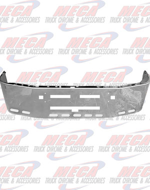 FRONT BUMPER KW T600 20'' SS TOW, AIR FLOW, 9 OVAL LT HLS