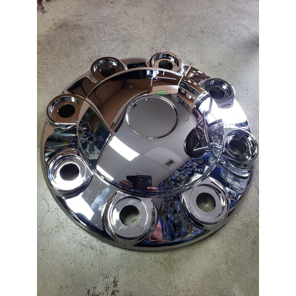 """SIDE AXLE COVER FRONT 19.5"""" EACH 8 LUG 22MM STUD, 33MM NUT"""