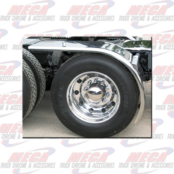 "SIDE HALF FENDER EXTRA LONG S/S 80"" ROLLING 16GA single"
