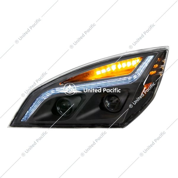 100% LED HEADLAMP ASSEMBLY DRIVER BLACKOUT BACK FL CASCADIA 2018+