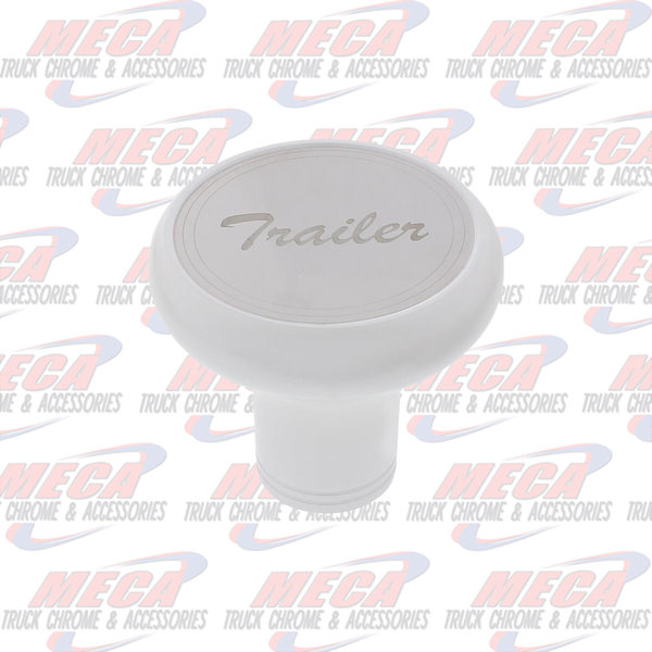 INSIDE BRAKE KNOB TRAILER PEARL WHITE W/ S/S PLAQUE