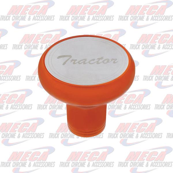 INSIDE BRAKE KNOB TRACTOR CADMIUM ORANGE W/ S/S PLAQUE