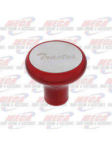 INSIDE BRAKE KNOB TRACTOR CANDY RED W/ S/S PLAQUE