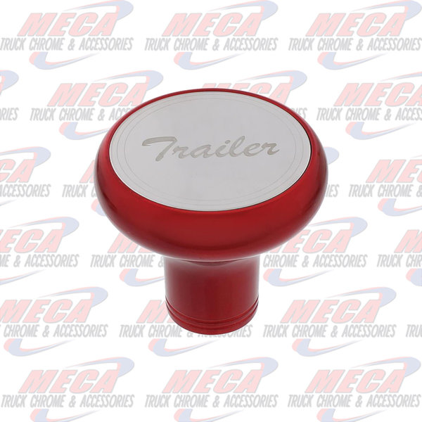 INSIDE BRAKE KNOB TRAILER CANDY RED W/ S/S PLAQUE