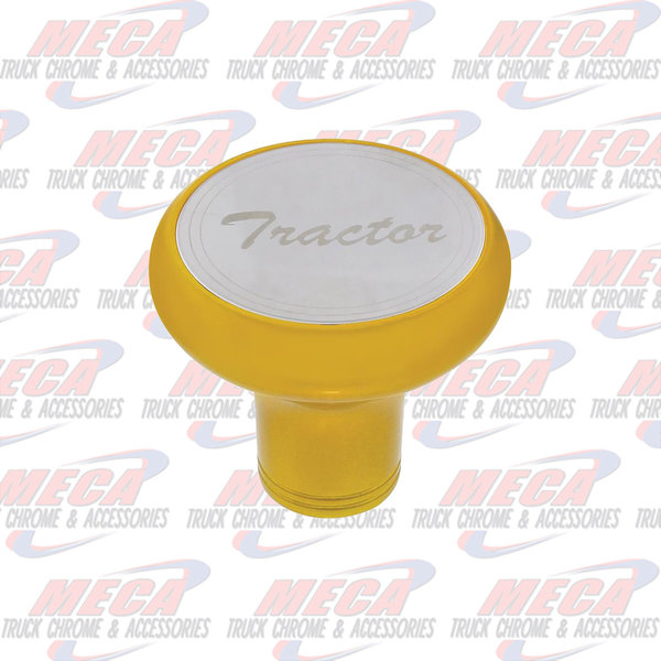 INSIDE BRAKE KNOB TRACTOR ELECTRIC YELLOW W/ S/S PLAQUE