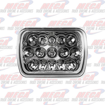 "LED HEADLIGHT BEAM 5"" X 7"" (OFF ROAD) HIGH/LOW HAIZER 2700 LUMENS"