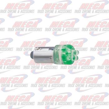 LED 1893 BULB W/ 4 GREEN MICRO LED'S 2PK