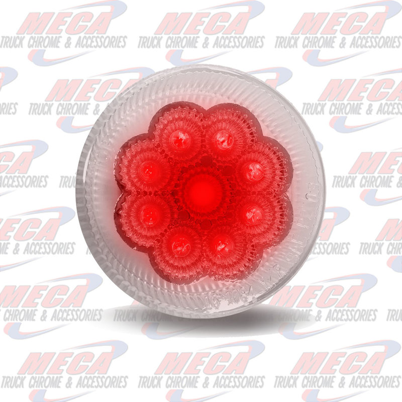 "2 1/2"" Clear Red LED (9 Diodes)"