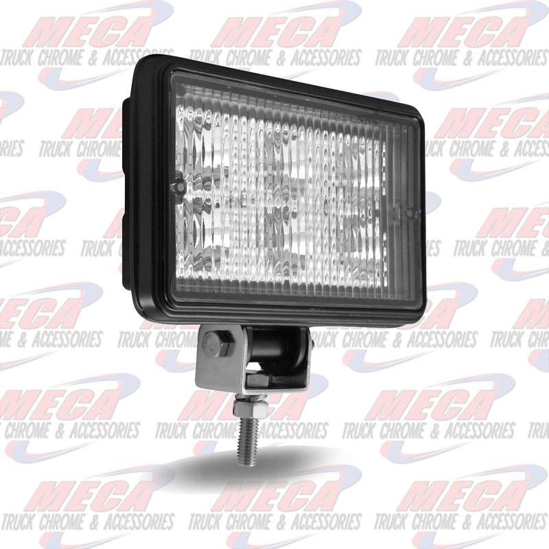 """4"""" x 6"""" Rectangular Heavy Duty LED Work Fog Light - Spot Beam - 970 Lumens (6 Diodes)"""