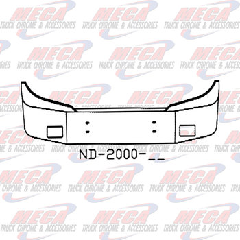 VALLEY CHROME BUMPER SETBACK 20'' FORD STERLING W/ FOG