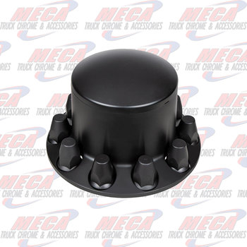 UNITED PACIFIC AXLE COVER REAR MATTE BLACK WITH 33MM THREADED NUT COVERS