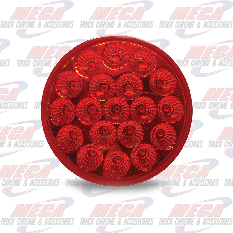 """4"""" Red Stop, Turn & Tail LED (19 Diodes)"""