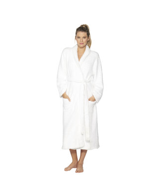 BAREFOOT DREAMS COZYCHIC UNISEX ROBE - WHITE