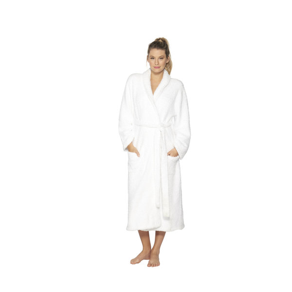 BAREFOOT DREAMS COZYCHIC ROBE WHITE