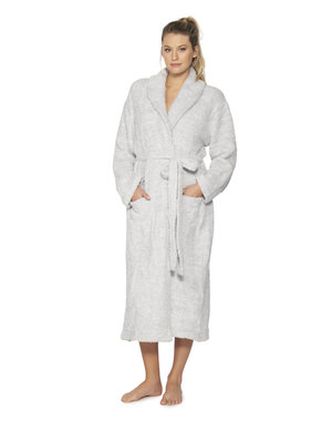 BAREFOOT DREAMS COZYCHIC UNISEX ROBE - HEATHERED OCEAN