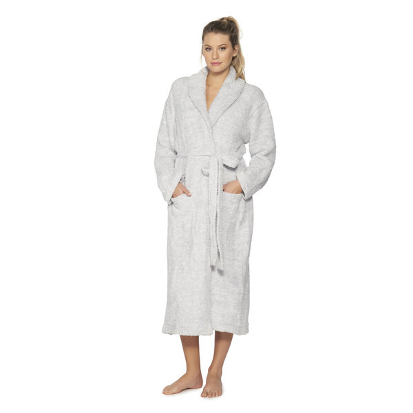BAREFOOT DREAMS COZYCHIC ROBE HEATHERED OCEAN