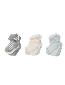 BAREFOOT DREAMS COZYCHIC INFANT SOCKS, 3PK