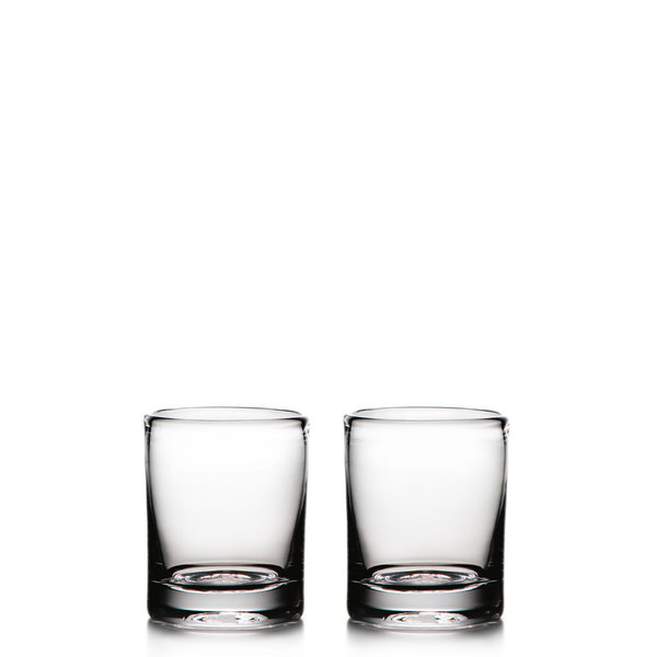 SIMON PEARCE ASCUTNEY DOUBLE OLD FASHIONED GLASSES, BOX SET OF 2, 14 OZ