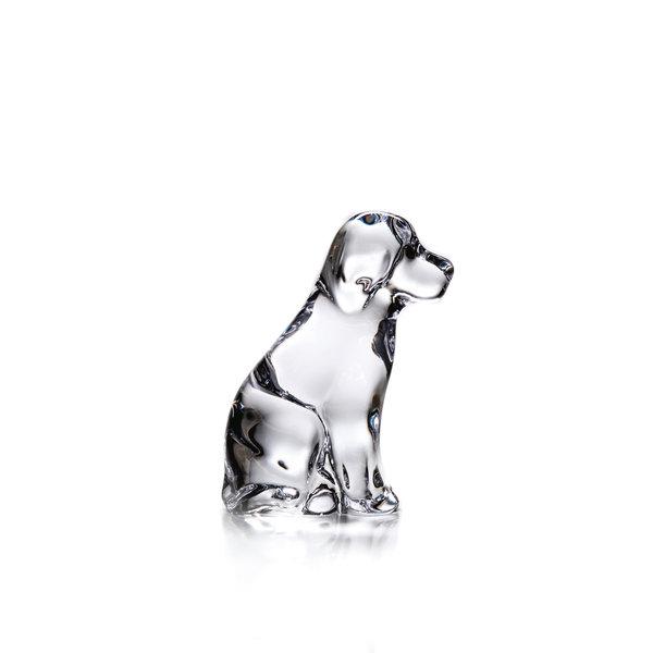 SIMON PEARCE DOG PAPERWEIGHT