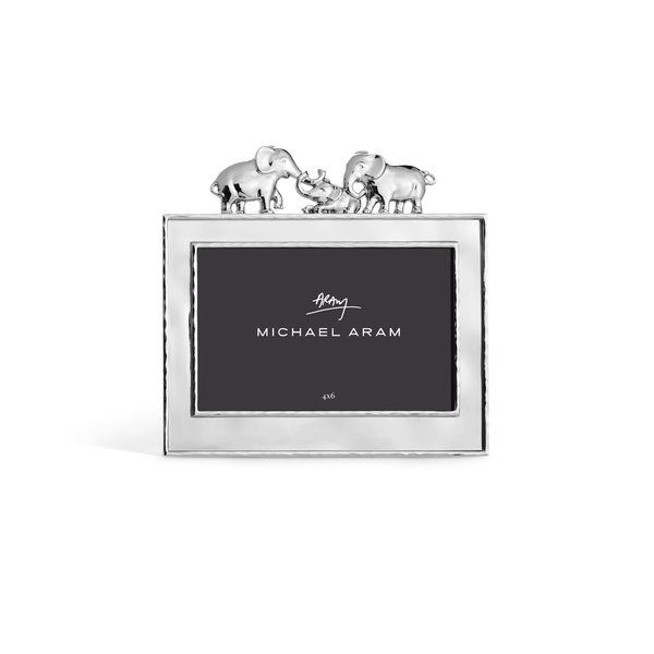 MICHAEL ARAM ELEPHANT FRAME SILVER 4X6