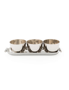 MICHAEL ARAM TWIST TRIPLE BOWL SET WITH TRAY