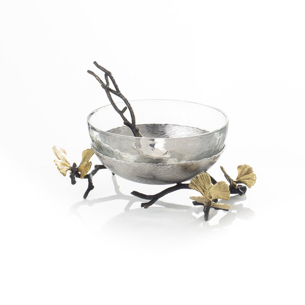 MICHAEL ARAM BUTTERFLY GINKGO GLASS NUT DISH