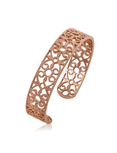 LISA NIK ROSE GOLD VERMEIL ROUND TEXTURED CUFF