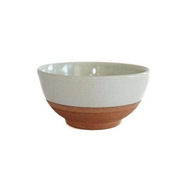 CARAVAN HOME TERRACOTTA & WHITE BOWL