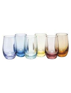 MOSER OPTIC VODKA SHOT GLASSES SET OF 6  2.7 OZ.
