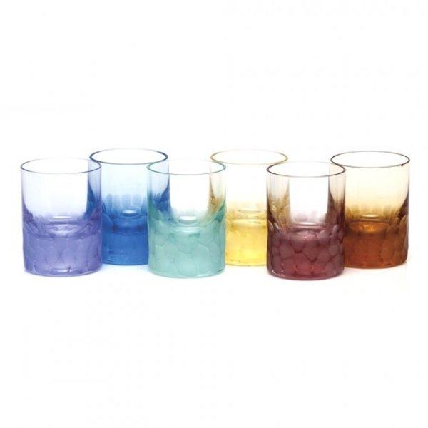 MOSER PEBBLES SHOT GLASSES, SET OF 6