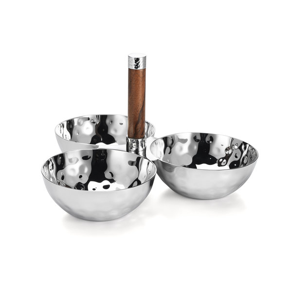MARY JUREK SIERRA 3 BOWL SET W/WOOD HANDLE