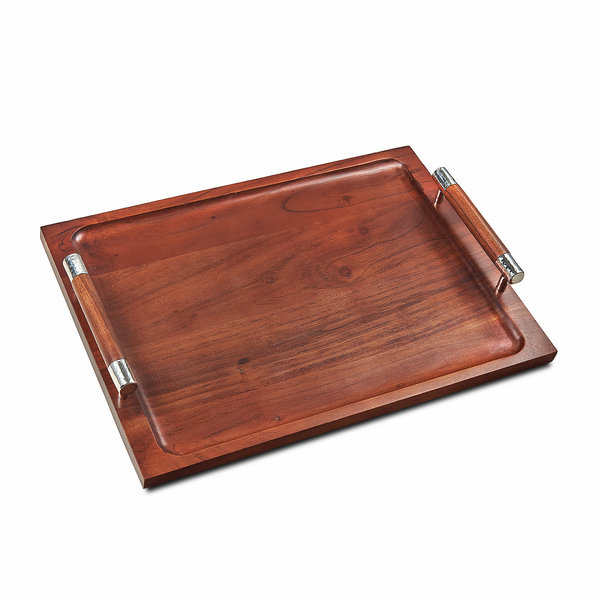 MARY JUREK SIERRA WOOD TRAY W/HANDLES
