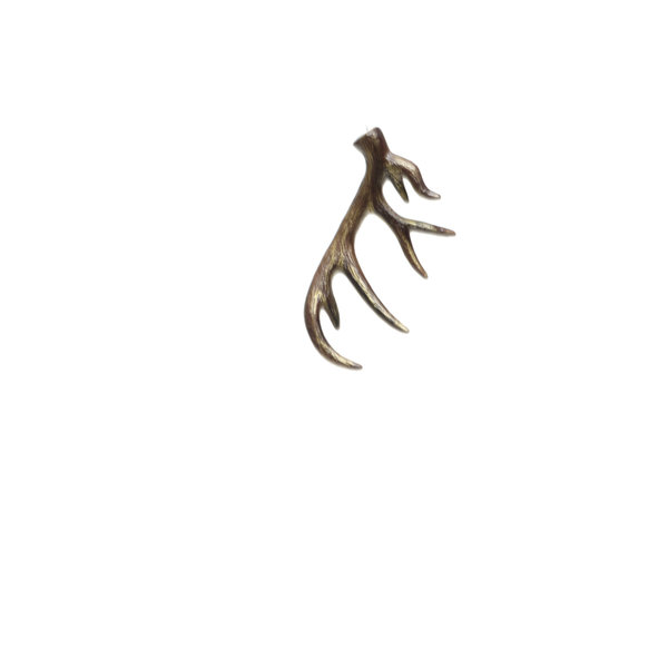 "MERAVIC ANTLER ORNAMENT 9"" BRONZE"