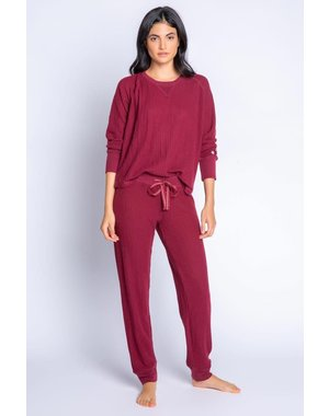 PJ SALVAGE PJ SALVAGE CRANBERRY JAMMIE SKI SET