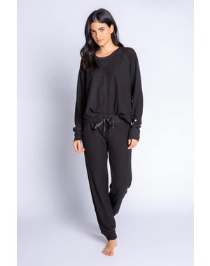 PJ SALVAGE PJ SALVAGE BLACK JAMMIE SKI SET