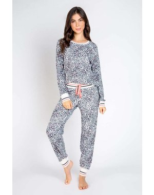 PJ SALVAGE PJ SALVAGE STONE LEOPARD LOUNGE SET