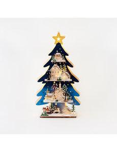 "CHRISTMAS TREE SCENE, 24"""