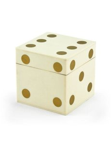 TIZO DICE SET, BONE & GOLD
